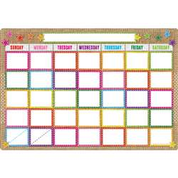 Smart Burlap Stitched Calendar Dry-Erase Surface, ASH91053