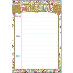 Donutfetti Welcome 13x19 Chart Smart Poly, ASH91068