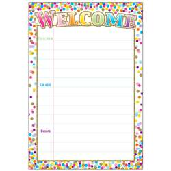 Confetti Welcome 13x19 Chart Smart Poly, ASH91082