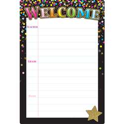 Black Confetti Welcome 13x19 Smart Poly, ASH91089