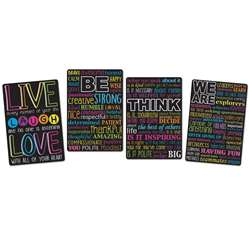 4 Pack Motivational Classroom Charts Smart Poly, ASH91204