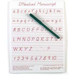"Dnealian Manuscript Write-On/ Wipe-Off Board (9"" X 12"") By Ashley Productions"