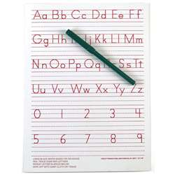 "Traditional Manuscript Write-On/ Wipe-Off Board (9"" X 12"") By Ashley Productions"