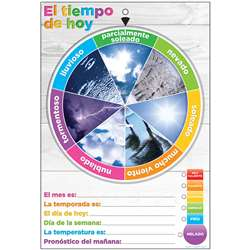 Wheel Poly Chart Weather Spanish Dry-Erase Surface, ASH91602