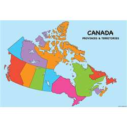 10 Pack Smart Poly Canada Map Charts Dry-Erase Sur, ASH91802