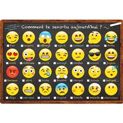 Chart French Emoji How You Feeling Dry-Erase Surfa, ASH93006