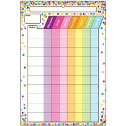 Smart Poly Chart French Chore Chart Dry-Erase Surf, ASH93008