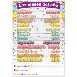 Chart Spanish Months Of The Year Dry-Erase Surface, ASH93601
