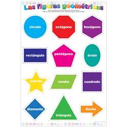 Smart Poly Chart Spanish Shapes Dry-Erase Surface, ASH93602