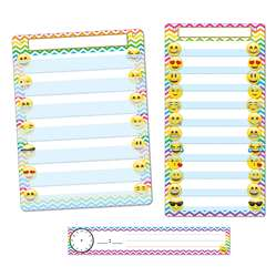 3 Pc Emoji Pocket Chart Set Smart Poly, ASH94501