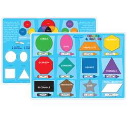 Colors&Hapes Learning Mat 2 Sided Write On Wipe Of, ASH95022