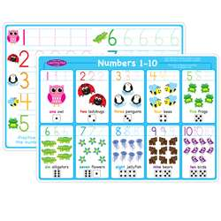 Numbers 1-10 Learning Mat 2 Sided Write On Wipe Of, ASH95023