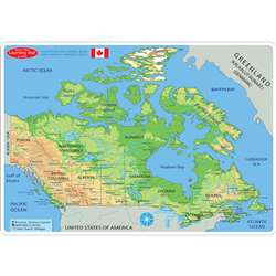 Canadian Map Learning Mat 2 Sided Write On Wipe Of, ASH95024