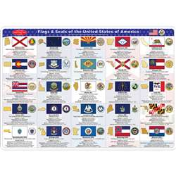 2 Sided Learning Mat State Flags Smart Poly, ASH95035