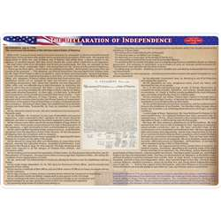2 Sided Learning Mat Declaration Of Independence S, ASH95037