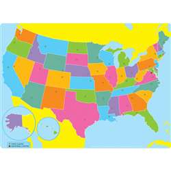 Us Map Space Savers Postermat Pals Smart Poly Sing, ASH95303