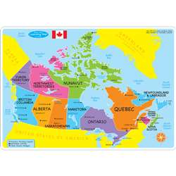 10Pk Canadian Map Mat 2 Sided Write On Wipe Off, ASH95604