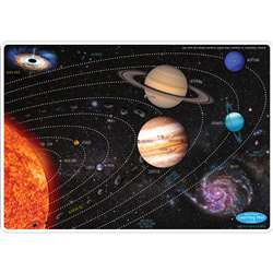 10Pk Solar System Learn Mat 2 Sided Write On Wipe , ASH95614