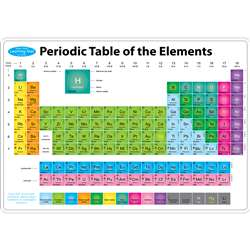 10Pk Periodic Table Mat 2 Sided Write On Wipe Off, ASH95615