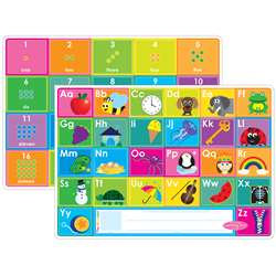 10Pk Abc & Numbers 1-20 Learn Mat 2 Sided Write On, ASH95620