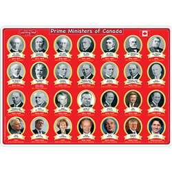 10Pk Canadian Prime Ministers Mat 2 Sided Write On, ASH95625
