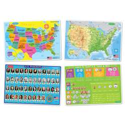 4 Pack Us Education Learning Mats Smart Poly, ASH95800