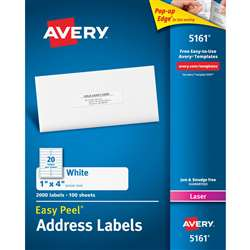 Avery Easy Peel 1X4 White Mailing Labels 2000 Coun, AVE05161