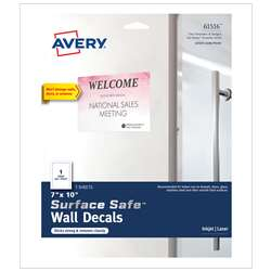 "Surface Safe Wall Decals 7Inx10"" 3 Labels, AVE61516"