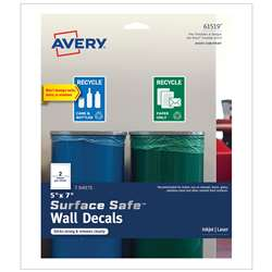 "Surface Safe Wall Decals 5Inx7"" 6 Labels, AVE61519"