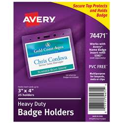Secure Top Badge Holders Landscape, AVE74471