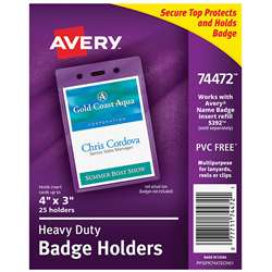 Secure Top Badge Holders Portrait, AVE74472
