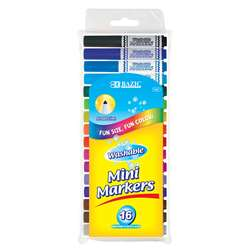 Washable Markers Mini 16 Colors Broad Line, BAZ1221