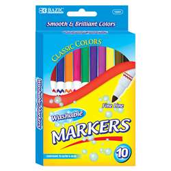 Washable Markers Super Tip 10 Colrs, BAZ1224