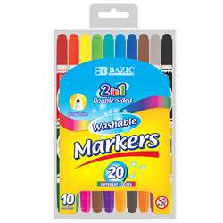 Washable Markers Double Tip 10 Clrs, BAZ1234