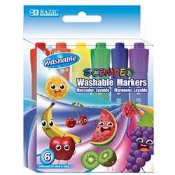 Washable Markers Scented 6 Colors, BAZ1285
