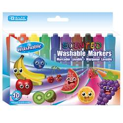 Washable Markers Scented 10 Colors, BAZ1286