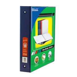 "3Ring Binder with 2 Pockets 15"" Blu, BAZ3192"