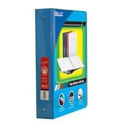 "3Ring Binder with 2Pockets 15"" Cyan, BAZ4145"