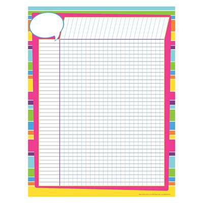 Incentive Chart Happy Bright Stripes 40Pk, BCPLL1134