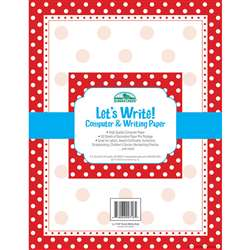 Red & White Dot Computer Paper 50Ct By Barker Creek Lasting Lessons