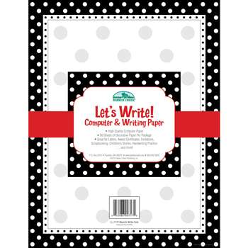 Black & White Dot Computer Paper 50Ct By Barker Creek Lasting Lessons