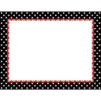 Just Dotty Black & White Border Chart By Barker Creek Lasting Lessons
