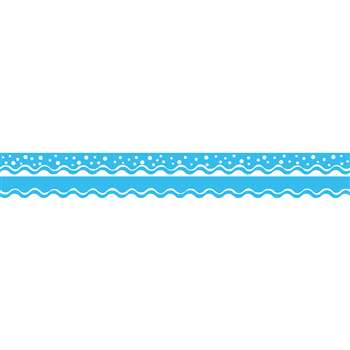 Happy Pool Blue Border Double-Sided Scalloped Edge, BCPLL992