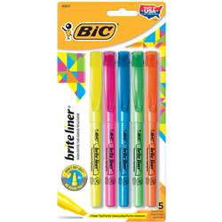 Bic Bright Liner Highlighters 5Pk Assorted By Bic Usa