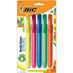 Brite Liner Retractable 5 Pk Chisel Tip By Bic Usa