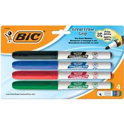 Bic Great Erase Dry Erase Fine Point Markers 4 Pack Low Odor By Bic Usa