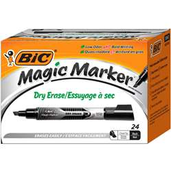 Bic Magic Marker Value Pack Black Dry Erase, BICGELITP241BLK