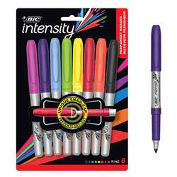 Shop Bic Mark It Permanent Markers 8 Ct Fine Point Assorted Colors - Bicgpmap81 By Bic Usa