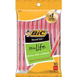 Bic Round Stic Ballpoint Pens Red 10Pk By Bic Usa
