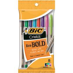 Shop Bic Cristal Xtra Bold Pack Of 8 - Bicmsbap81 By Bic Usa